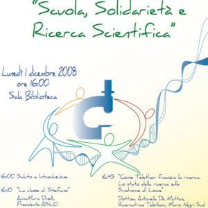 Scuola, Solidarietà e Ricerca scientifica
