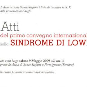 Atti del primo convegno internazionale sulla Sindrome di Lowe